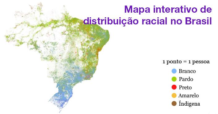 Pata Brazils Racial Dot Map